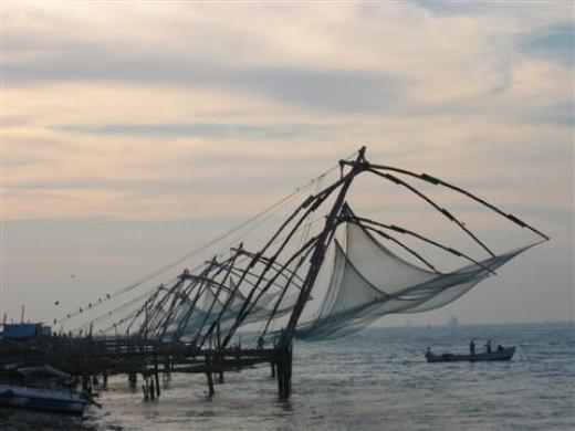 Fishing nets in Fort Kochi
