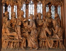Altar carving, by Tilman Riemenschneider at St. Jakobskirche in Rothenburg ob der Tauber