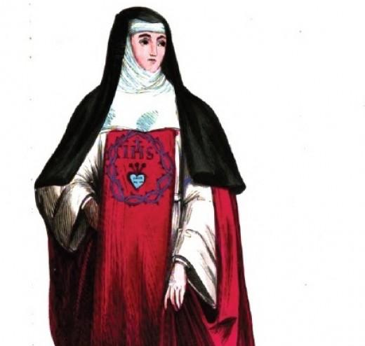 Nun of the Incarnate Word and Blessed Sacrament, from L. Cibrario, ''Descrizione storica degli ordini religiosi'', vol. II, Turin 1843, pp. 32-33