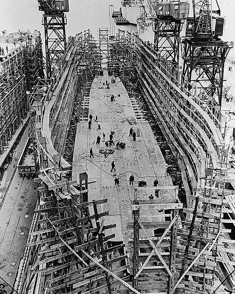 A liberty ship was built in 42 days rather than the 200 days would normally take.