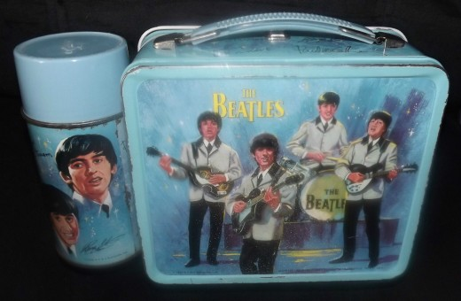 1965 Beatles Lunchbox & Thermos Set, Reverse View