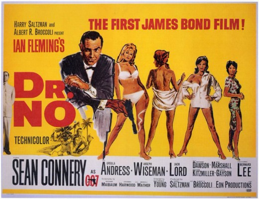 Dr. No (1962) poster art by Mitchell Hooks