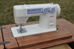 Janome 712T Treadle Sewing Machine and Cabinets