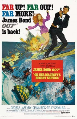 On Her Majesty's Secret Service (1969) art by Robert McGinnis and Frank McCarthy