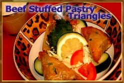 Beef-Stuffed Pastry Triangles Recipe