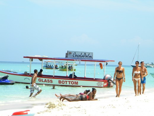 Snorkeling on the reef is easy from the glass bottom boats available for a small fee.