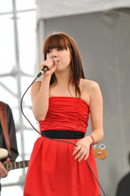 Carly Rae Jepsen sings at Canada Place.