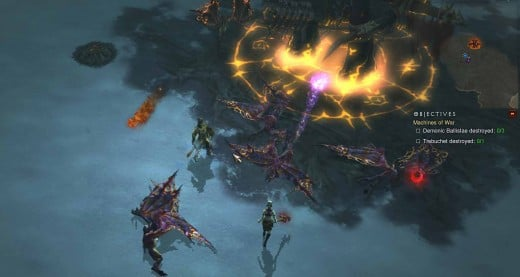 Diablo 3 Destroy the Machines of War - the Ballistae and the Trebuchet