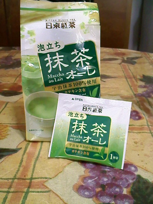 The matcha tea from Mitsuwa Marketplace.