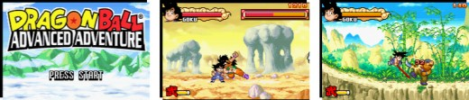 Dragon ball advance adventure Title screen, gameplay