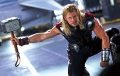Thor recovers his hammer, Mjölnir, during a battle aboard the listing flying aircraft carrier of SHIELD.