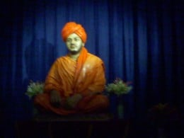 Statue of Swamiji presently kept at the hall , in the same house. Now visitors sit and pray here  a while.