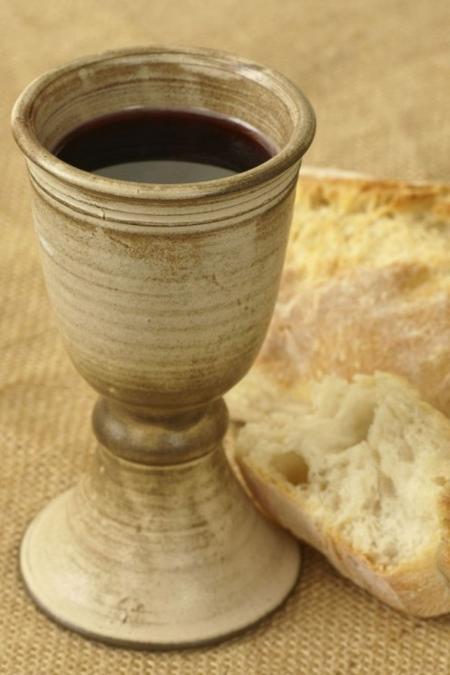 Communion in the Lord's Supper, and fellowship  in the breaking of bread together.