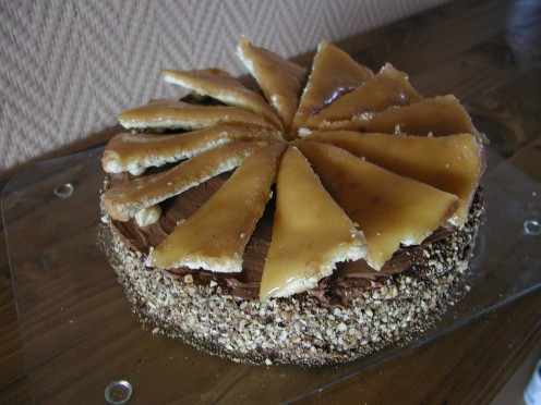 Dobos Torte - A  Homemade Version