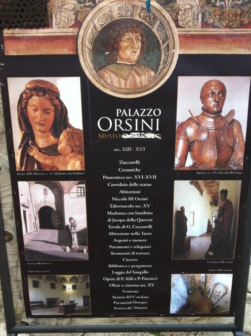 Palazzo Orsini Exhibition Poster