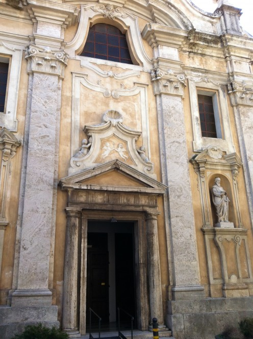 Baroque 15th Century Pitigliano Cathedral Facade