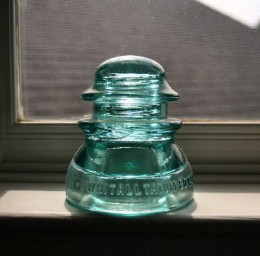 Whithall glass insulator.