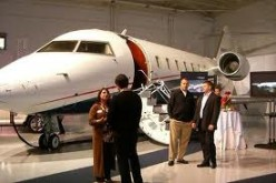 Money causes people to buy thins they don't need. Such as this gas-guzzling leer jet.