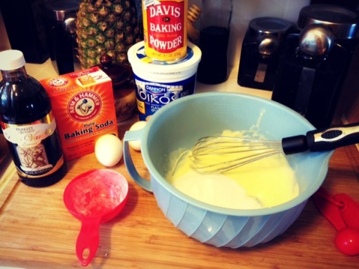 Rapidly whisk the butter and sugar together; alternatively, beat on high for a couple of minutes.