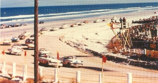 Racing on the sand at Daytona Beach