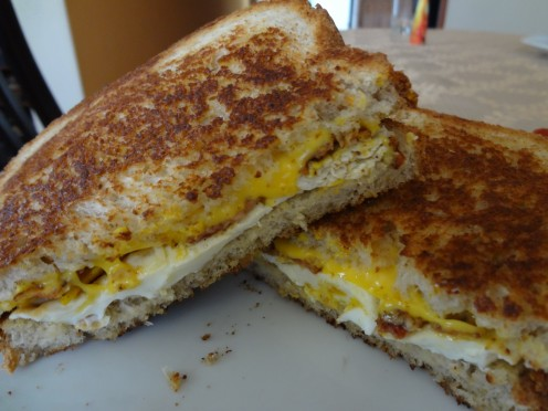 """The North American"" grilled breakfast sandwich"