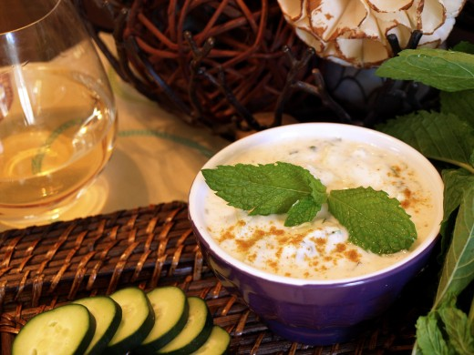 Enjoy my favorite recipe for Cucumber Raita with Mint