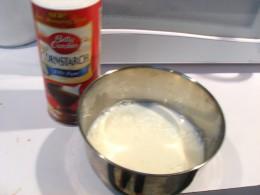 Cornstarch and Milk