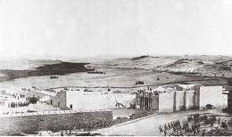 Artist depiction in 1844