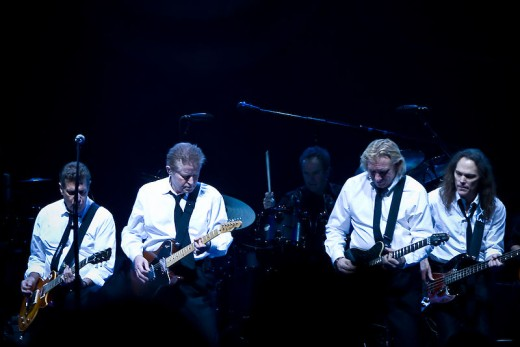 The Eagles- Glen Frey, Don Henley, and Timothy B Schmit.  No Don Felder :-(