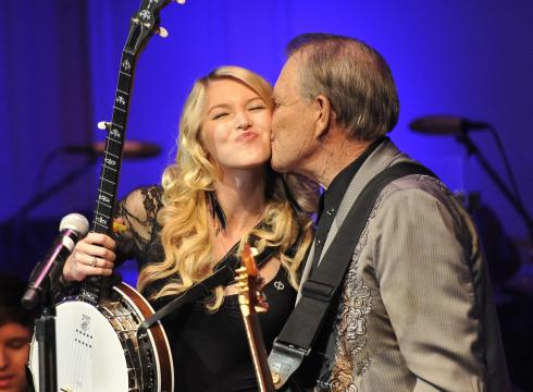 Glen with daughter Ashley at the Alzheimer's Awareness concert at the Library of Congress.