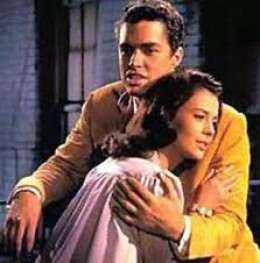 Natalie Woods and Richard Beymer in the film.