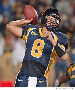 Current Green Bay Packers Star and Superbowl Winner Aaron Rodgers during his playing days at Cal