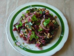 Vegetarian Salad Recipes: Salad From Beet Leaves And Stems