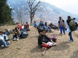 Rest a while - after trecking - Manali, HP