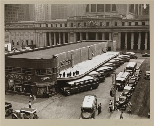 Title: Greyhound Bus Terminal Date: July 14, 1936