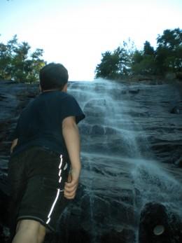 Looking up at Arethusa Falls
