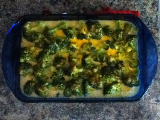 Chicken and Broccoli Casserole fresh out of the oven!