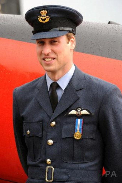 WILLIAM POSING IN HIS R.A.F. UNIFORM. (ROYAL AIR FORCE).