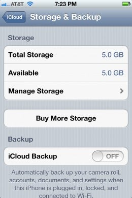 Use the toggle to the right of iCloud Backup to enable it.