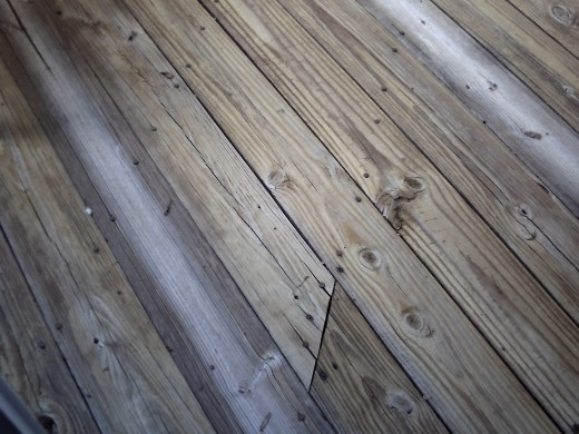 There are some boards that are more dried out than others... so, now we need solid stain, not transparent or semi transparent