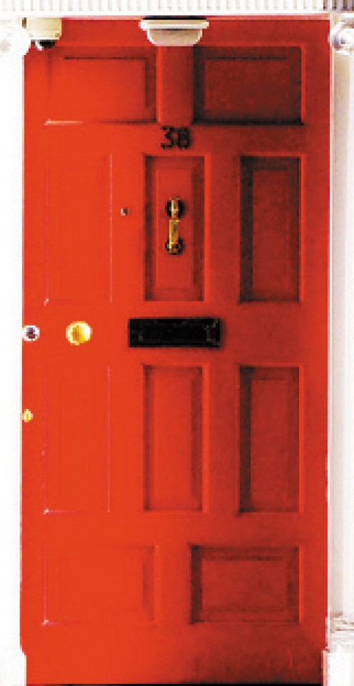 A red front door means your house is full of life!