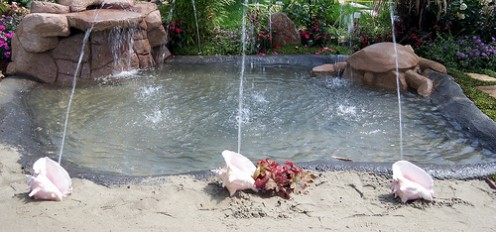 Get creative with your tropical water feature!