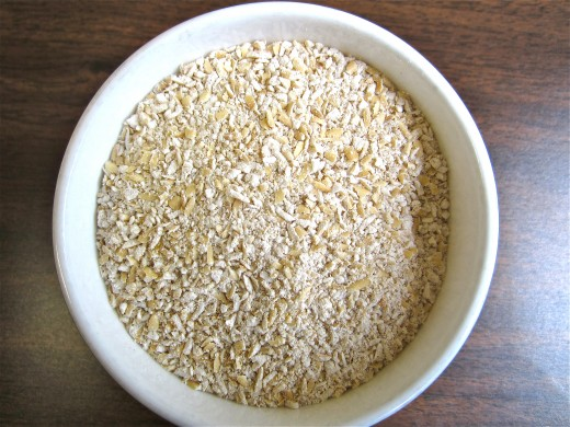 Scottish oatmeal that is ready to cook
