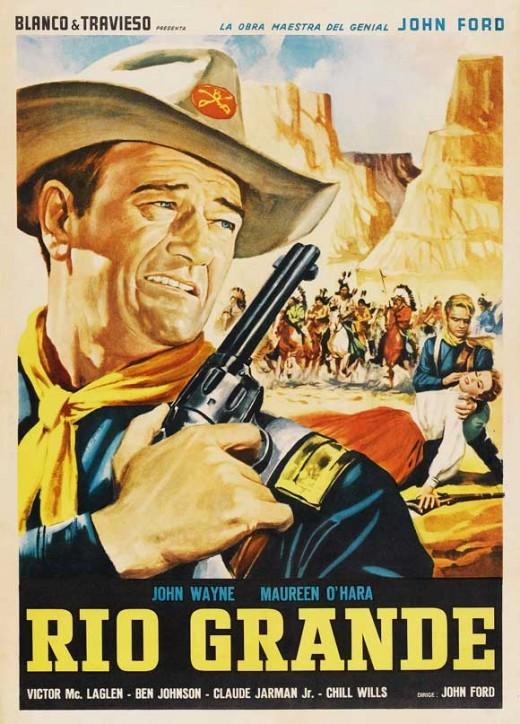 Rio Grande (1950) Spanish poster