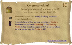 Runescape 99 Cooking Guide