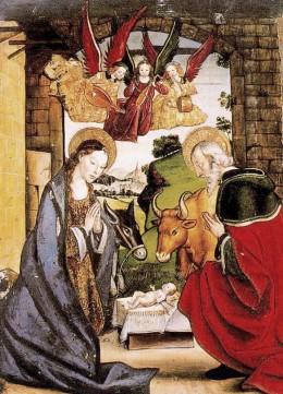 Birth of Christ with Angels - Pedro de Berruguete.