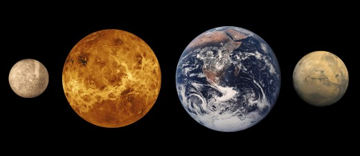 Relative sizes of the inner planets from NASA's multimedia gallery.