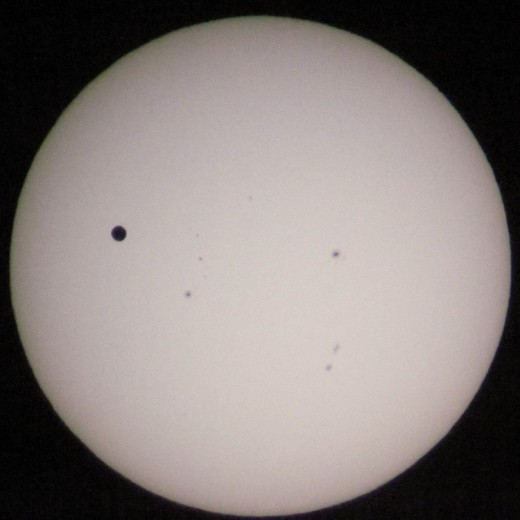 Transit of Venus, June 5, 2012. 6:25 PM Pacific Time from Orange County Great Park, California.