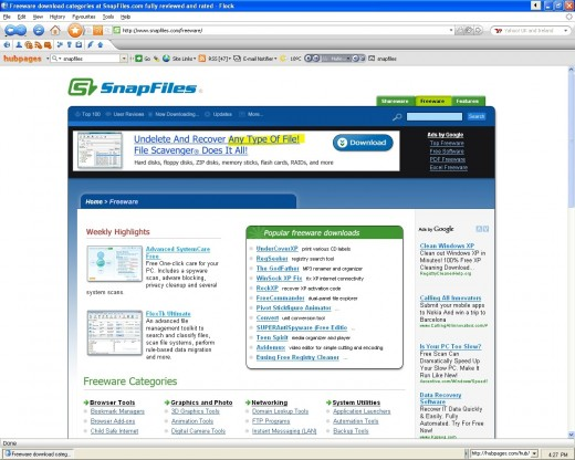 The best of the best freeware sites and shareware sites on the Internet.