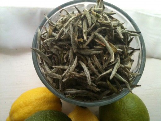 Beautiful, soft and downy loose-leaf Silver Needle white tea. Photo © Redberry Sky